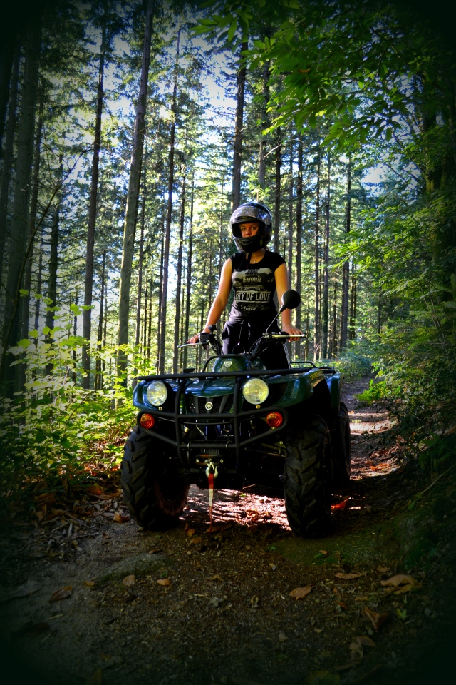 quad bike and off road in france